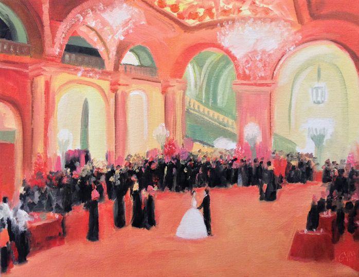live event painting astor hall giselle vidal mcmen