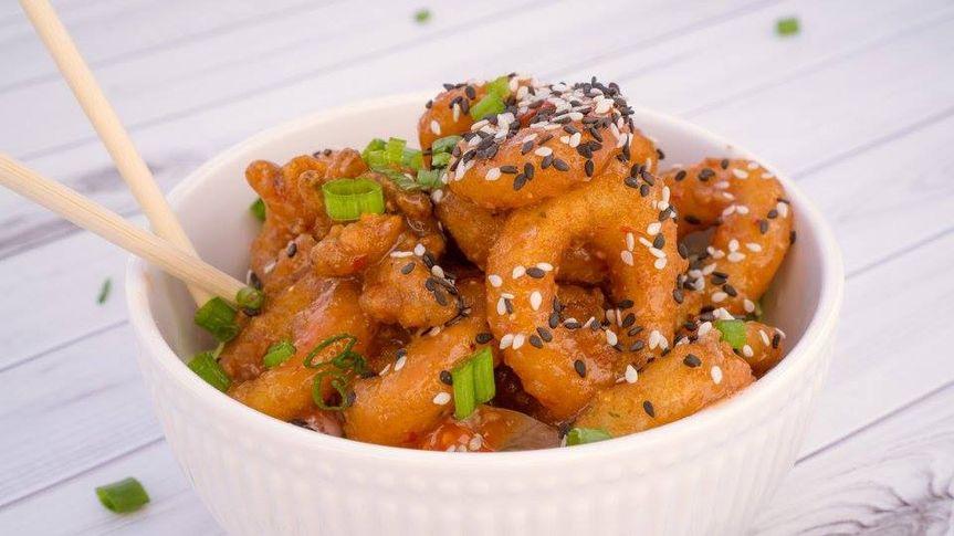 Sweet chili glazed calamari