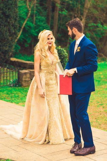 A beautiful wedding couple