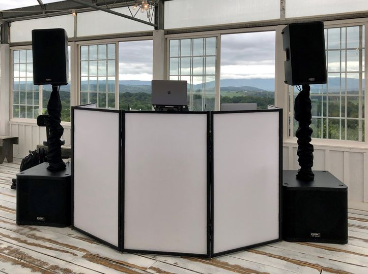 DJ Setup for Wedding Reception