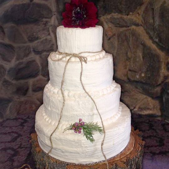 Classic white velvet cake