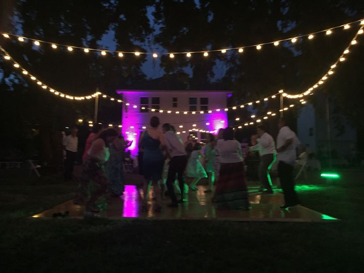 DYNAMIK Outdoor String Lighting along with Up Lighting and DJ and MC