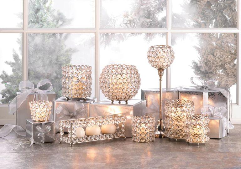 crystal showcase candleholder