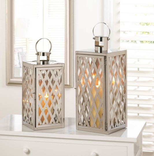 steel lattice small lantern