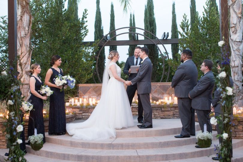 A romantic ceremony on the terrace