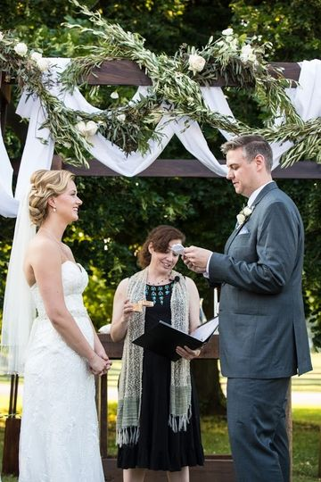 Sharing self-written vows