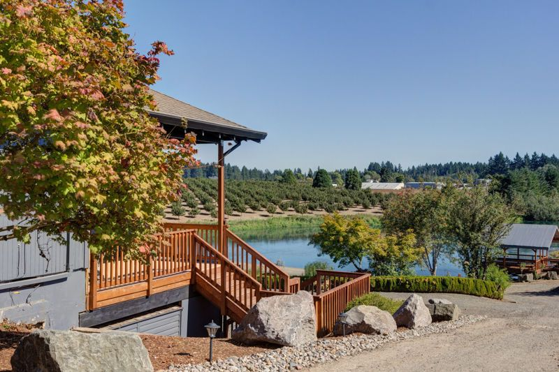 The Pondview house overlooks the pond.