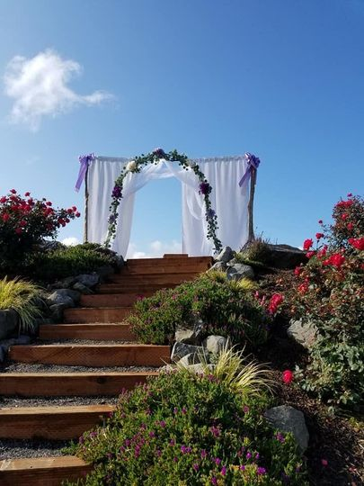 A grand entrance for the bride