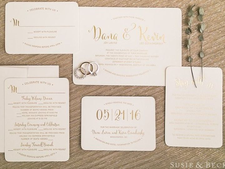 Tmx 1467402850870 Dana Kevin Wedding Invite Photo Rockville, MD wedding invitation