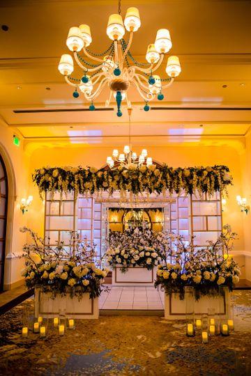 Indoor ceremony at salon dorado