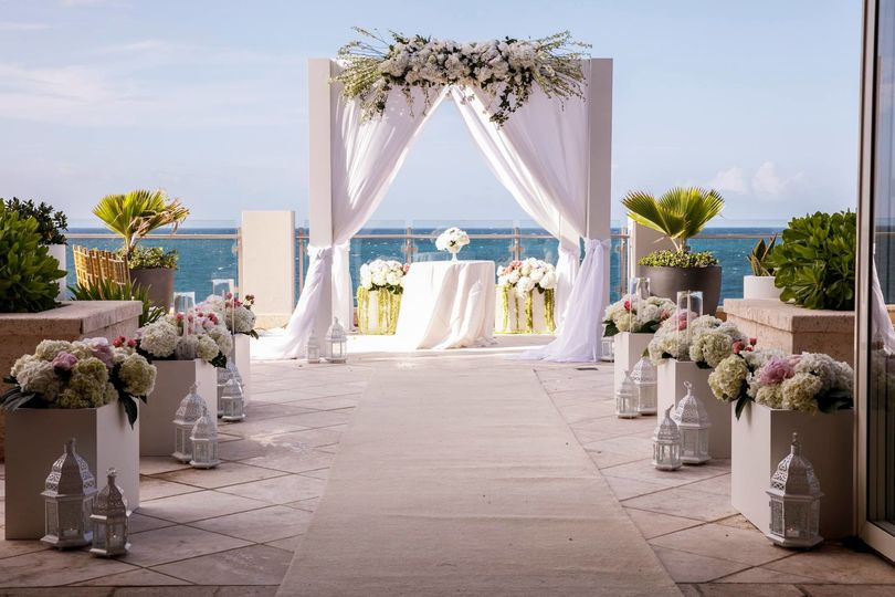 Ceremony at west veranda