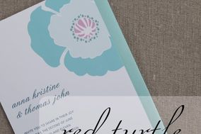Red Turtle Invitations