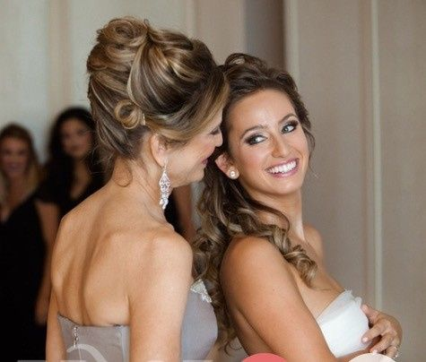 Our Mother of the Bride and Bride Our signature hairstyles