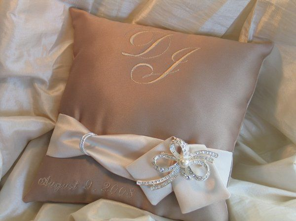 Monogrammed with bride and groom initials and wedding date.