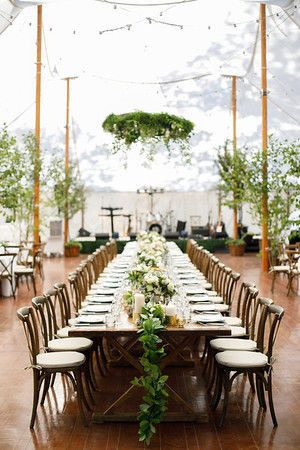 Long table setup | Aaron Watson Photography