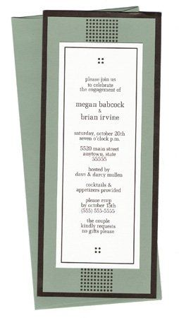 The Megan  #10 invitation is modern and playful.  Flat-printed on a beautiful textured bright white...