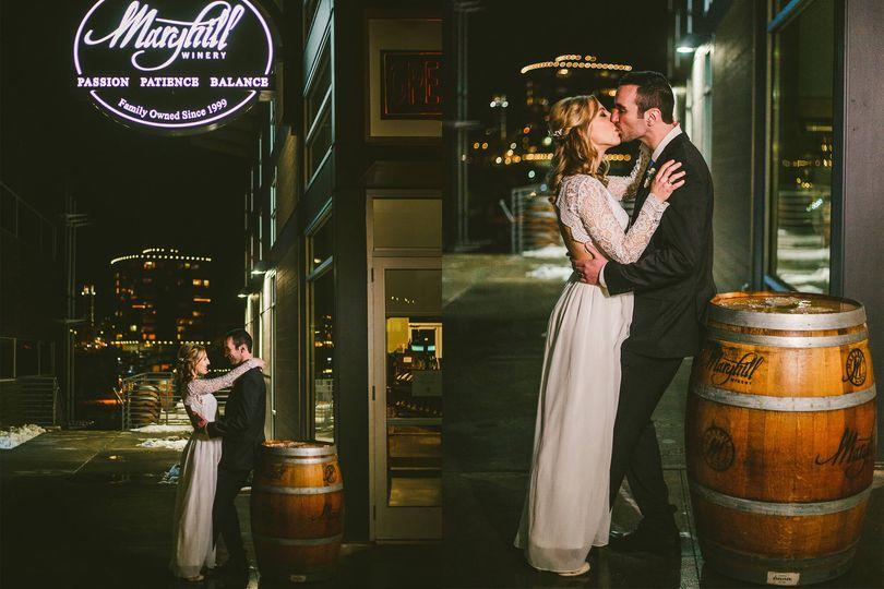 Maryhill Winery bride and groom