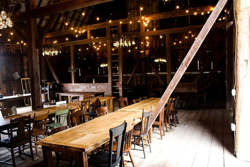 Farm tables and chairs