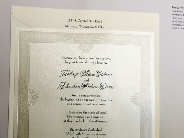 Tmx 1486692382438 Img0016 2 Patchogue, NY wedding invitation