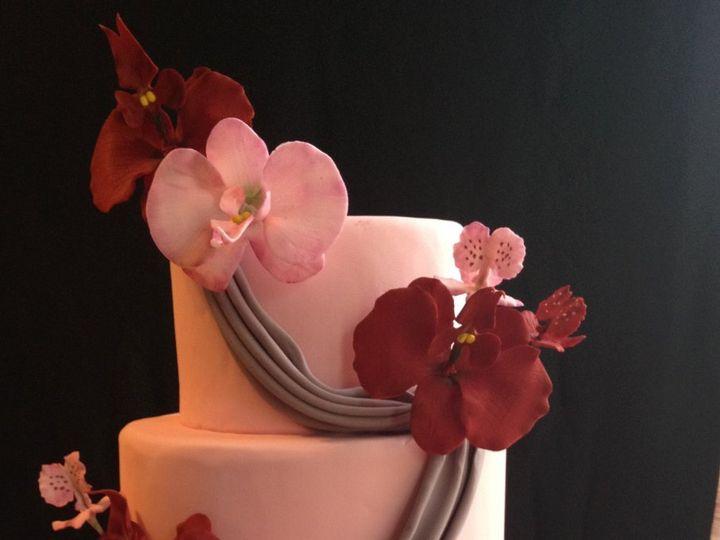 Tmx 1352760201150 OrchidandDrapeWeddingCake2 Knoxville, Tennessee wedding cake