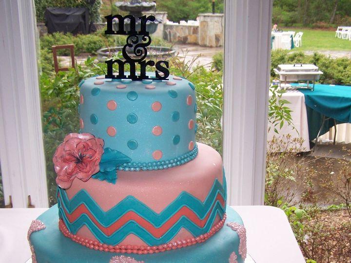Tmx 1431720916433 Chevron Cake Knoxville, Tennessee wedding cake