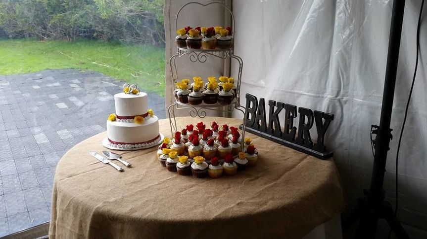 Awesome cupcake setup at a wedding I worked