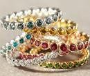Color gemstone bands.  These make beautiful and unique wedding bands, anniversary bands or push...
