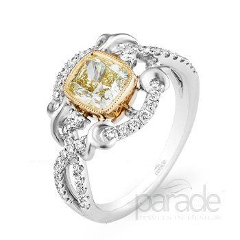 Parade Designs yellow diamond engagement ring