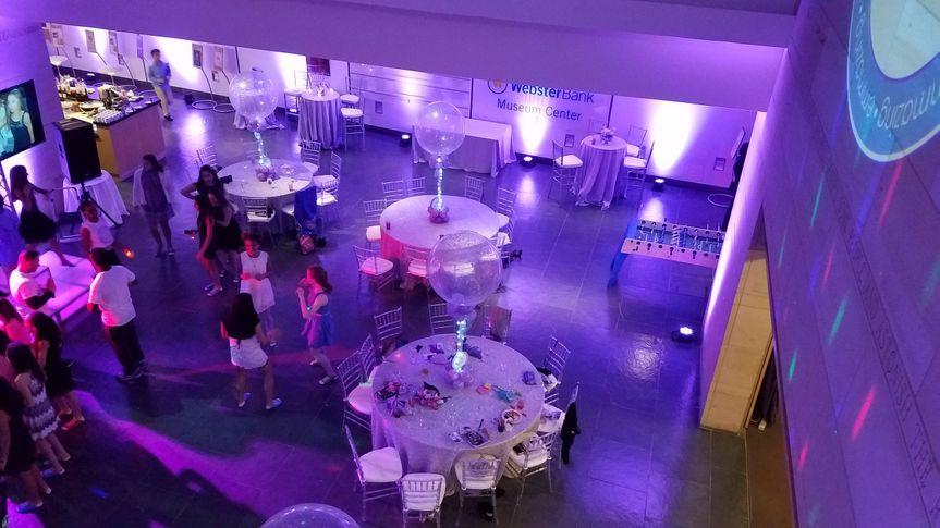 Purple reception uplighting