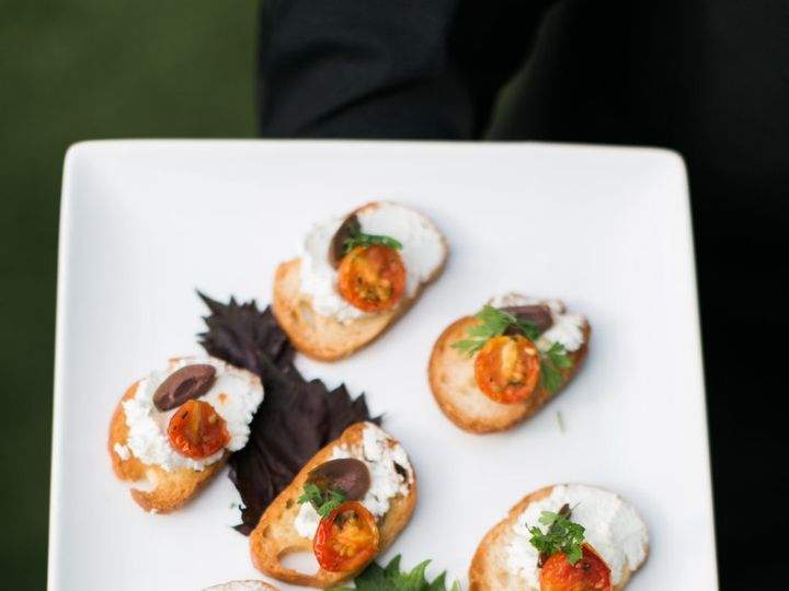 Tmx Goat Cheese And Oil Cured Olive Bruschetta 2 51 162124 157653292218427 Redmond wedding catering