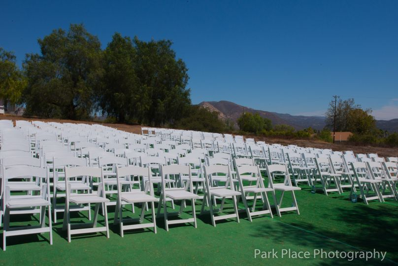 Outdoor chairs set-up