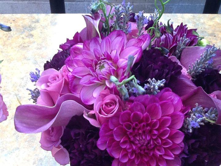 Dahlias and calla lily