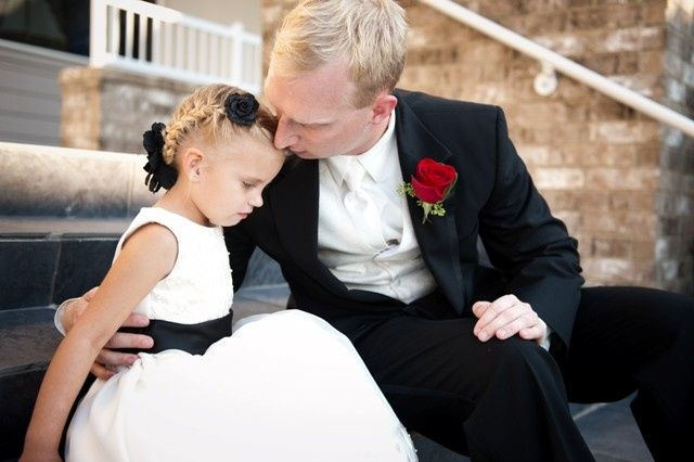 The groom and a kid