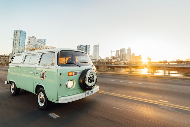 Van on the road   Photo by Eric Kidwell