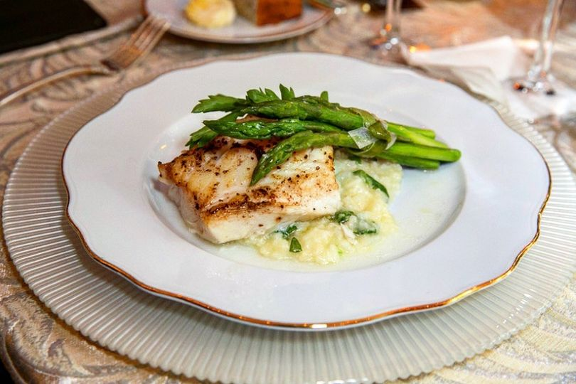 Chiliean Seabass with Risotto