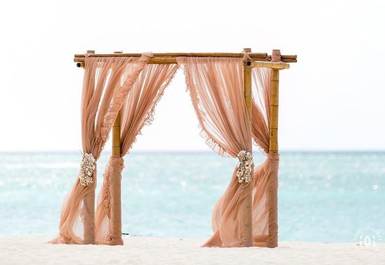 Wedding arbor at the beach