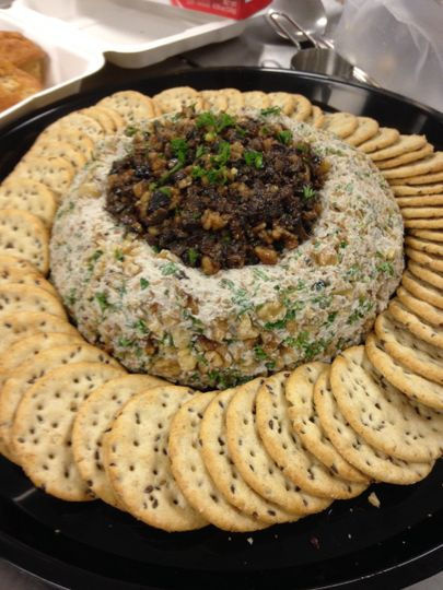 Cheez Ball with Olive Tapenade (VEGAN)