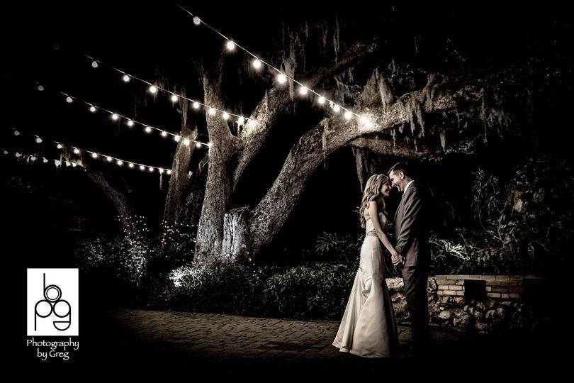 Couple on Courtyard