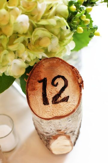 Table numbers for a Vermont wedding...