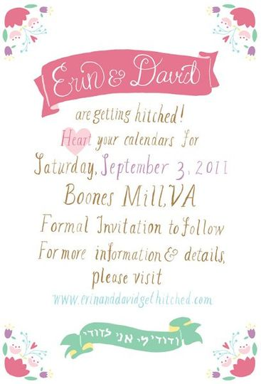 Boones Mill, VA save the date