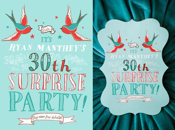 Destin, FL surprise birthday invitation