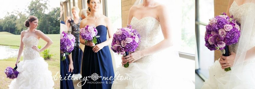 Custom colored hydrangeas and lavender roses made these bouquets unique and special!
