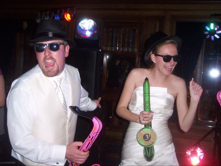 Bride and groom fun