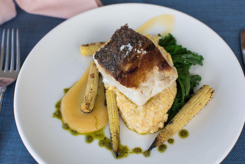 Fish and mashed potatoes
