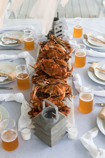 Fresh crabs served for lunch