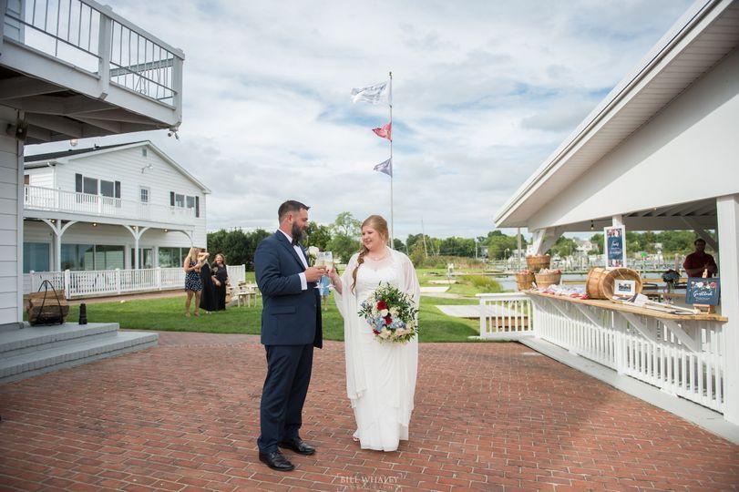 Crab deck wedding