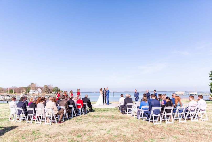 Ceremony waterfront