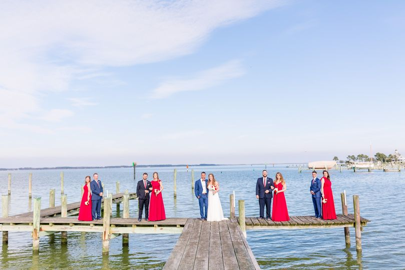 Dock bridal party