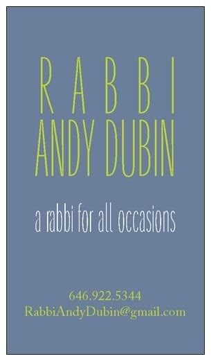 rabbi andy dubin a rabbi for all occasions busi
