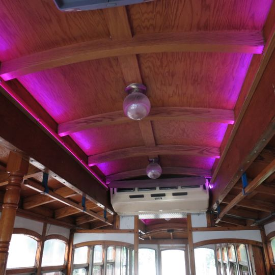 Lighting throughout the trolley